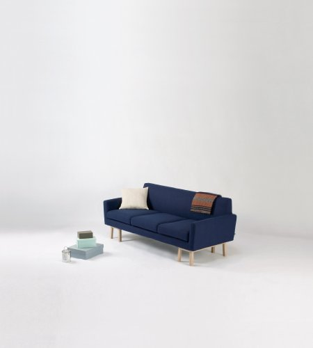 SIEVE【float-sofa 3シーター fabric rank A】SVE-SF007(Navy / ネイビー) ソファ