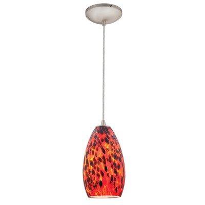 Access Lighting 28212-ORB/RED Sydney Inari Silk Glass Mini