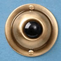 1 X Door Bell Pushbutton Antique Brass