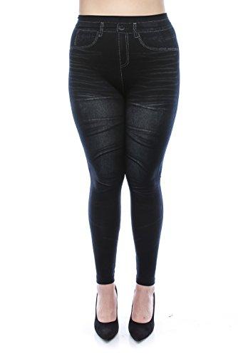 <b>VIRGIN ONLY Women's Denim Jeans Printed Elastic Waist Band Seamless Leggings </b>