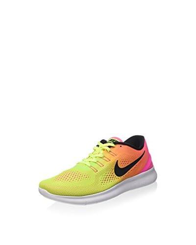 Nike Sneaker Free RN OC fluo gelb/pink