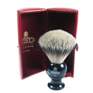 GB Kent Silvertip Badger Shaving Brush in Black