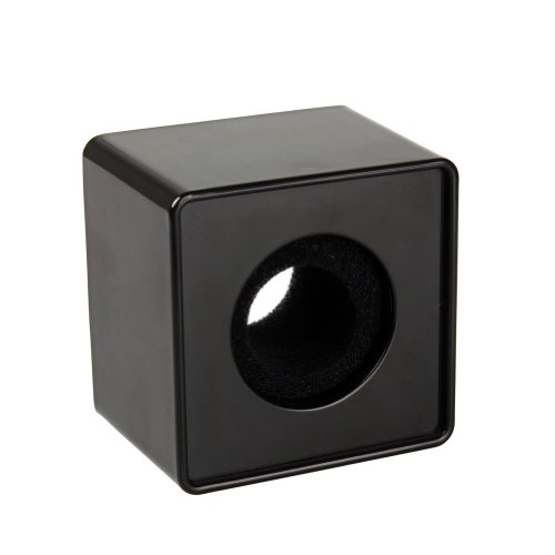 Akstore New Style Abs Mic Microphone Interview Square Cube Logo Flag Station 39Mm Hole With Sponge Voice Tube Ferrule - Black