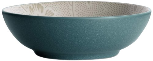 Noritake Colorwave Bloom 64-Ounce Round Vegetable Bowl, Turquoise