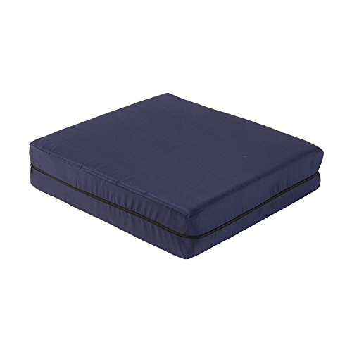 Duro-Med Foam Seat Cushion with Cover, Navy, 4 Inch x 16 Inch x 18 Inch (Seat Riser Cushion compare prices)