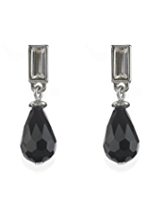 M&S Collection Mirror & Multi-Faceted Tear Drop Earrings