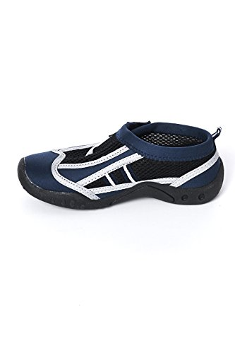 High Style Little And Big Kid'S Aqua Water Shoes - Beach Shoes With Velcro Closure (Navy, Us 9 Toddler) front-233727