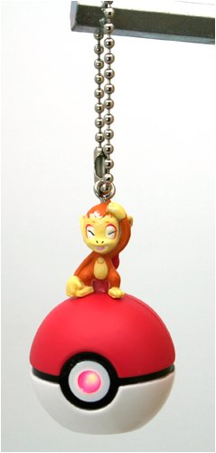 "Pokemon Diamond and Pearl and Pokeball 1"" With Light Holder- Chimchar"