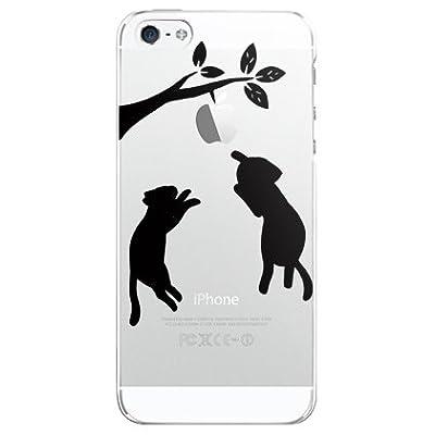 (にゃっと ブラック)SoftBank au iphone5(アイフォン5)専用ケース/カバー iphone5-ami-0071-2