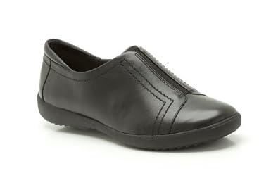 Clarks Womens Smart Clarks Belgrave Villa Leather Shoes In Black Standard Fit Size 4.5