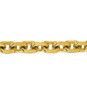 14K Solid Yellow Gold Cable Chain Necklace 4mm thick 22 Inches