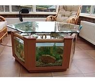 Coffee table fish tank 299l hexagonal design in beech garden outdoors - Fish tank coffee table amazon ...