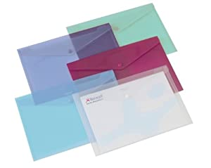Rexel Carry Folder Polypropylene A5 Translucent Assorted Ref 2100420 [Pack of 5]