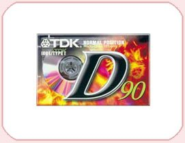 TDK D90 blank AUDIO tapes - Pack 10