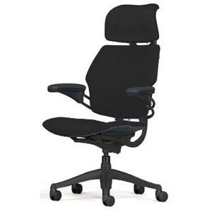 HumanScale Freedom Chair with Headrest, Black Wave Fabric