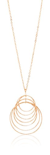 Charming Charlie Women's Slinky Circles Pendant Necklace One Size Rose Gold (Charming Charlie compare prices)