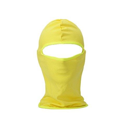 FENTI Multifunzione Maschera Passamontagna Sci Moto Paintball Maschera Biker Ski Yellow