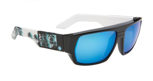 Spy Blok Men's Sunglasses - Palisades Frame - Grey / Blue Multi Layered Lens