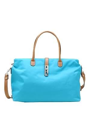Designer Inspired Oversized 'Arizzo' Handbag - Light Blue