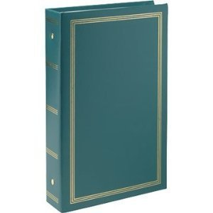 Pioneer STC46 Classic 3 Ring Photo Album with Solid Color Covers & Gold Trim, Holds 300 4″ x 6″ Photos, 3 Per Page – Colors May Vary
