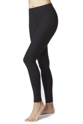 womens-ladies-figure-firming-slimming-compression-sport-waisted-control-plain-gym-leggings-black-xxl