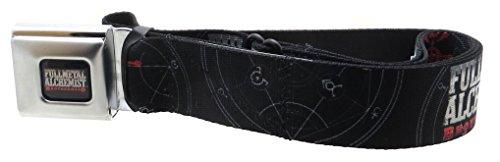 Fullmetal Alchemist Brotherhood Seatbelt Belt Flamel Symbol Black/White/Red