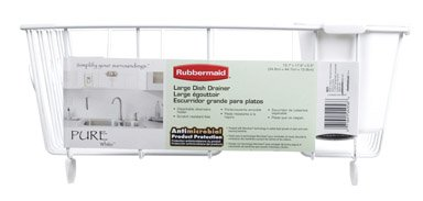 Rubbermaid 6032-06WHT White Wire Dish DrainerB0000CF3E7 : image