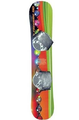 FREERIDE 110 BEGINNER LEVEL 2 SNOWBOARD, FIT FOR RIDER UP TO 95LBS BOARD DESIGNS WILL VARY FROM PHOTO