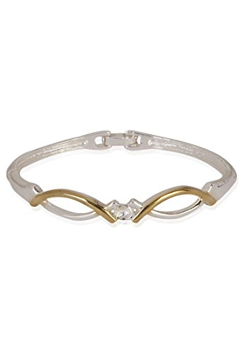Estelle Estelle Silver Plated Bracelet With Crystals For Women (Transperant)