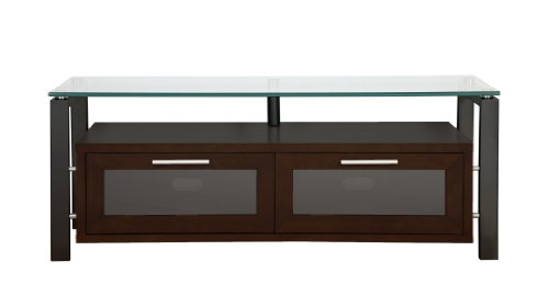 Plateau Decor 50 Eb Wood And Glass Tv Stand, 50-Inch, Espresso Finish