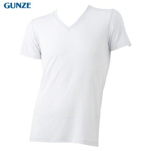 (グンゼ)GUNZE 【COOLMAGIC】極上体感・天竺 【吸汗速乾×持続消臭×冷感】 VネックTシャツ MC0915H 03 ホワイト M