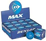 DUNLOP Max Squash Balls - Single Ball Boxes, 1 Dozen Balls