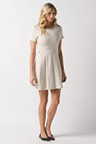 Short Sleeve Interlock Stripe Jersey Dress