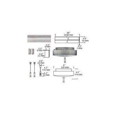 Tiella Lighting 800Rlpks150Es Rail Surface Pack 150 Watt Electric, Satin Nickel Finish - Electric