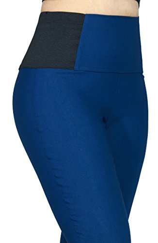 Women's Slimming Comfortable Stretchy Casual Dressy Pants W Side Band (SMALL, TEAL-D1859)
