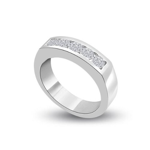 0.50ct G/VS1 Diamond Half Eternity Ring for Women with Round Brilliant cut diamonds in 18ct White Gold