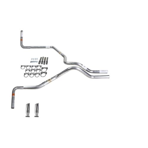 Truck Exhaust Kits DIY dual exhaust system 2.5 pipe Flowmaster Super 44 SW Tip