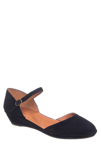 Noa Star Low Wedge Ankle Strap D'Orsay Shoe