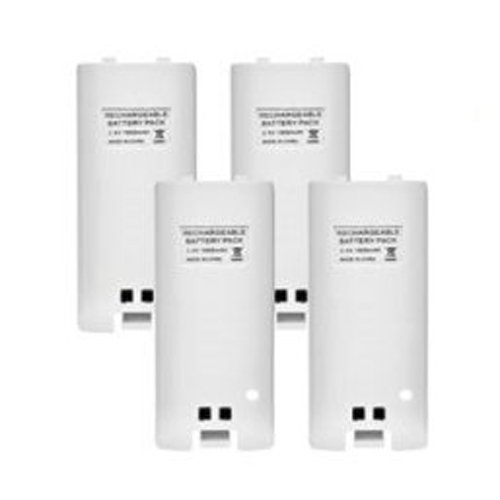 TOOGOO(R) 4 x Rechargeable Battery and Quad 4 Charger Dock Station Kit for Wii Remote Controller White (Wii Quad Dock compare prices)