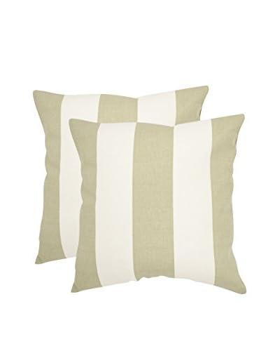 Safavieh Set of 2 Sally Pillows, Sage/Green