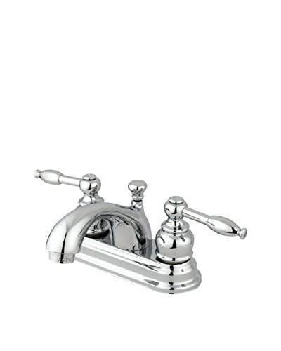 Kingston Brass Centerset Lavatory Faucet With Brass/Abs Pop-Up, Polished Chrome