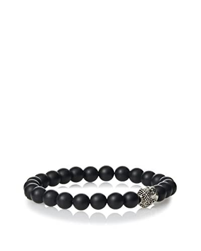 Devoted Men's Smooth Matte Black Onyx Bracelet