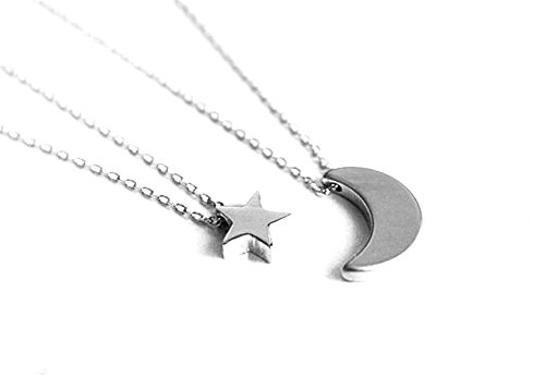bodya-womens-fashion-double-layer-chains-with-star-and-moon-pendant-simple-choker-necklace-silver-pl