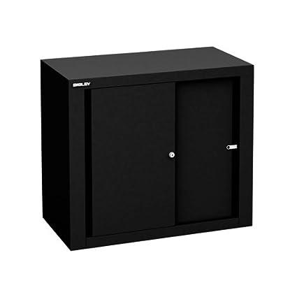 Bisley SD408/06/1S 69 cm Sliding Door Cupboard - Black