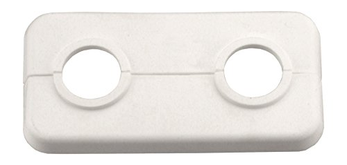 Cornat Doppel-Klapprosette, 15 mm, weiß, 2 Stück, T384000
