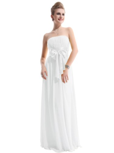 Pretty Charming Strapless Evening HE09060WH12