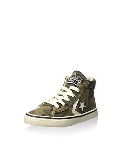 Converse Zapatillas abotinadas Pro Leather Vulc Mid Canvas Pr Verde Camuflaje