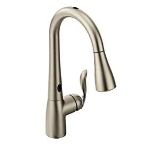 Moen 7594ESRS Arbor With Motionsense One-Handle High Arc Pulldown Kitchen Faucet, Spot Resist Stainless
