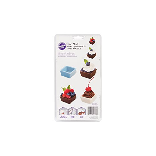 Wilton 2115-0009 Square Cup Candy Mold