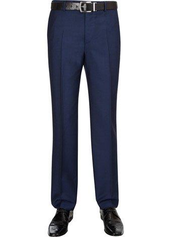 Austin Reed Slim Fit Blue Mohair Trousers REGULAR MENS 34